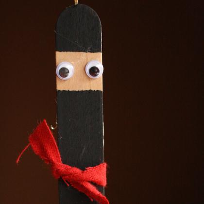 ninja popsicle stick