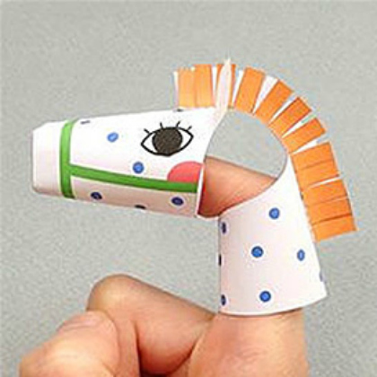 printable finger puppet