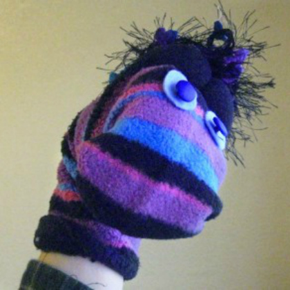 silly sock puppet