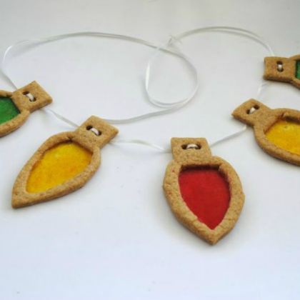 sugar cookie stained glass ornaments