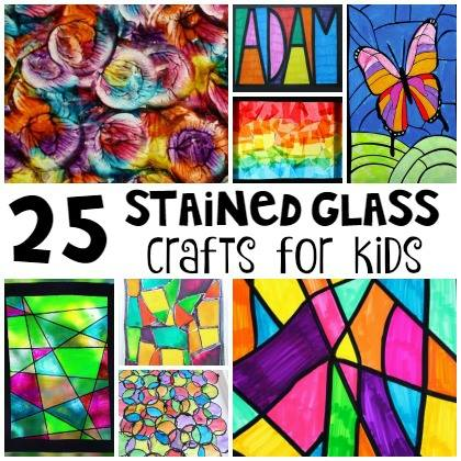 These 25 Stained Glass Crafts for Kids are a beautiful way to brighten your home no matter what the weather. Click now!