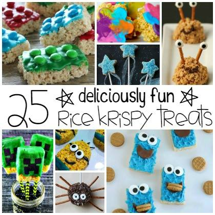 This Holiday season, let the kids help in the kitchen! And keep it silly with these 25 Silly Rice Krispie Treats for Kids. Click Now