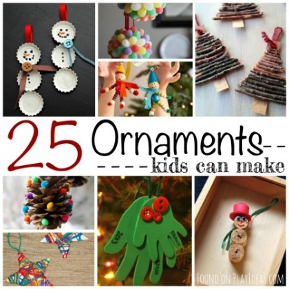 25 ornaments blog image - Kids Christmas Ornaments