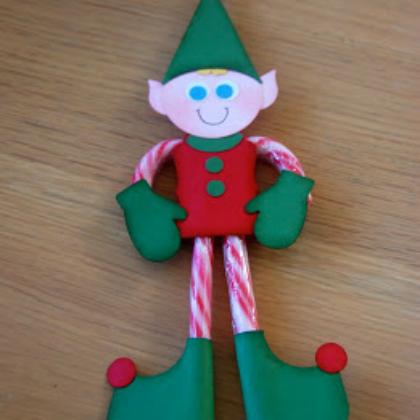 candy cane legs elf