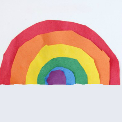 circle rainbow for toddlers