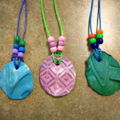 clay necklaces