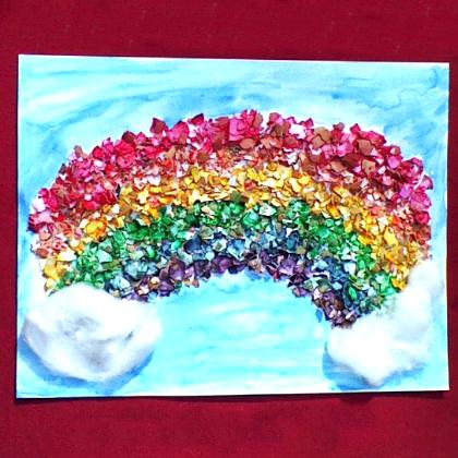 egg shell rainbow
