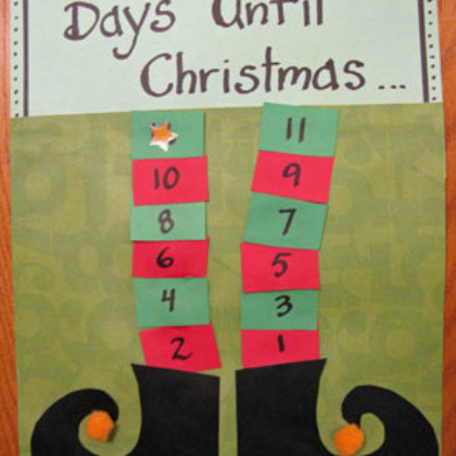 elf legs Christmas countdown