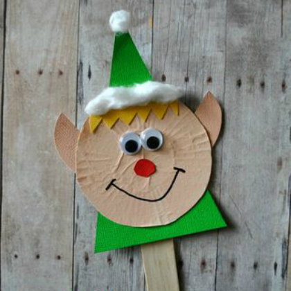 elf stick puppet