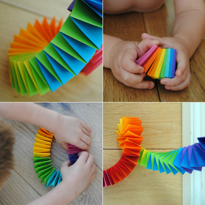 folding paper garland