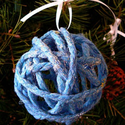 glittery yarn ball