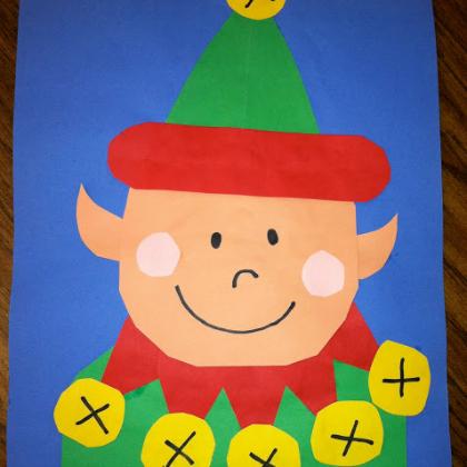 paper cutout elf