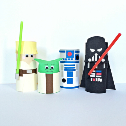 paper tube characters