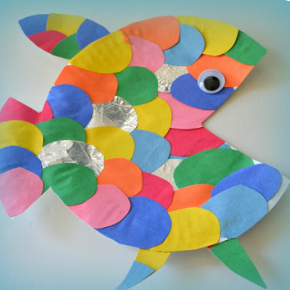 rainbow paper fish