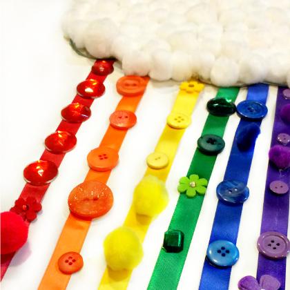 rainbow ribbon craft