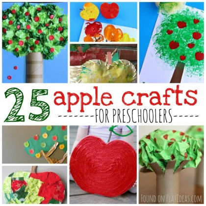 25 Apple Crafts for Preschoolers