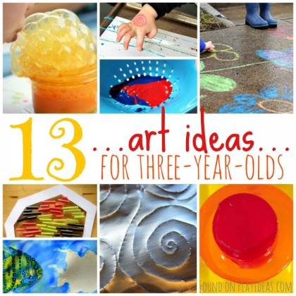 Easy Art Activities For Three Year Olds
