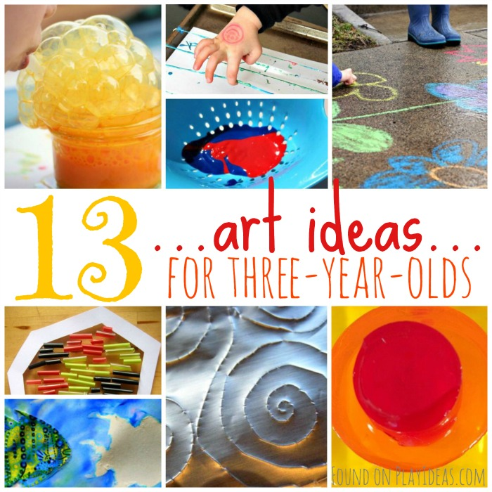 Art Ideas for Three Year Olds Blog Image