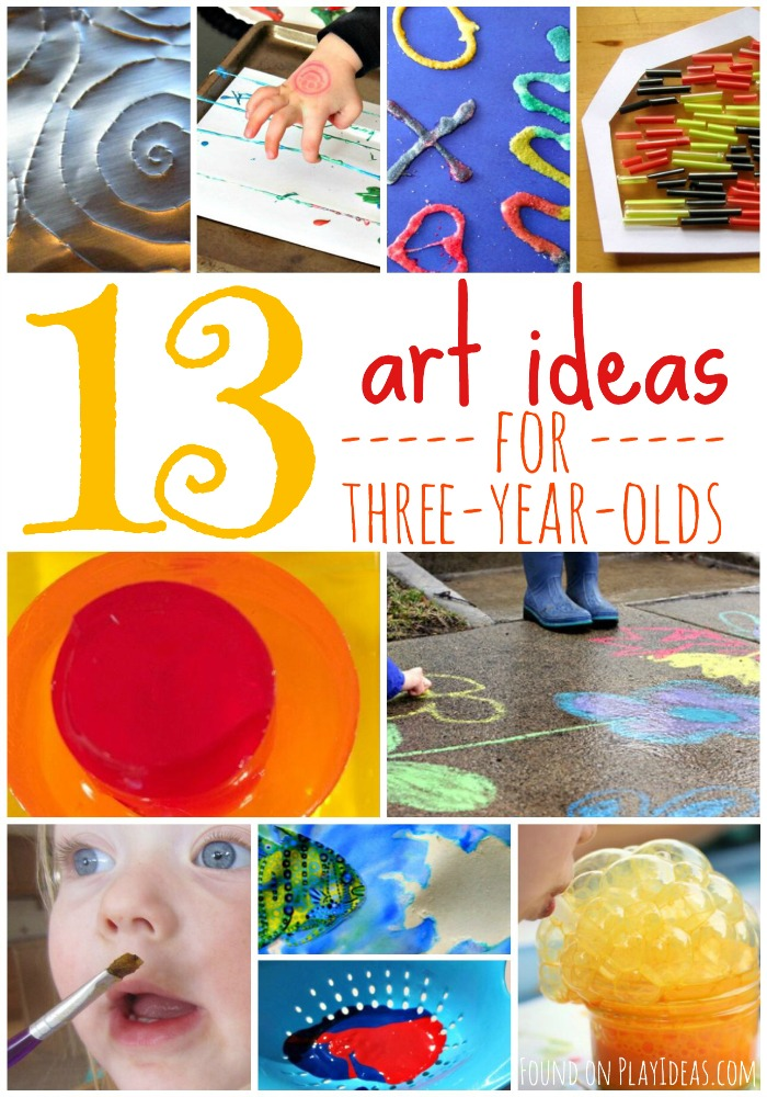Art Ideas for Three Year Olds Pinnable