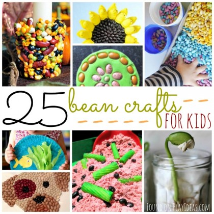 25 Bean Crafts for Kids