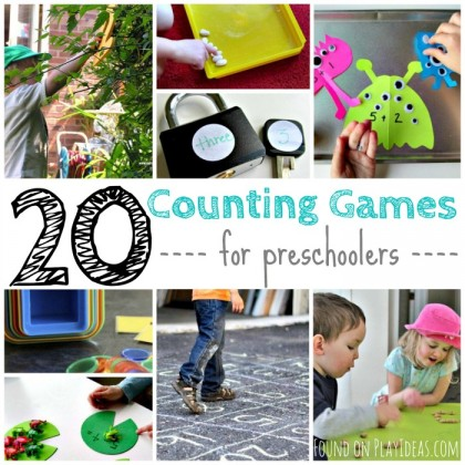 20 Counting Games for Preschoolers