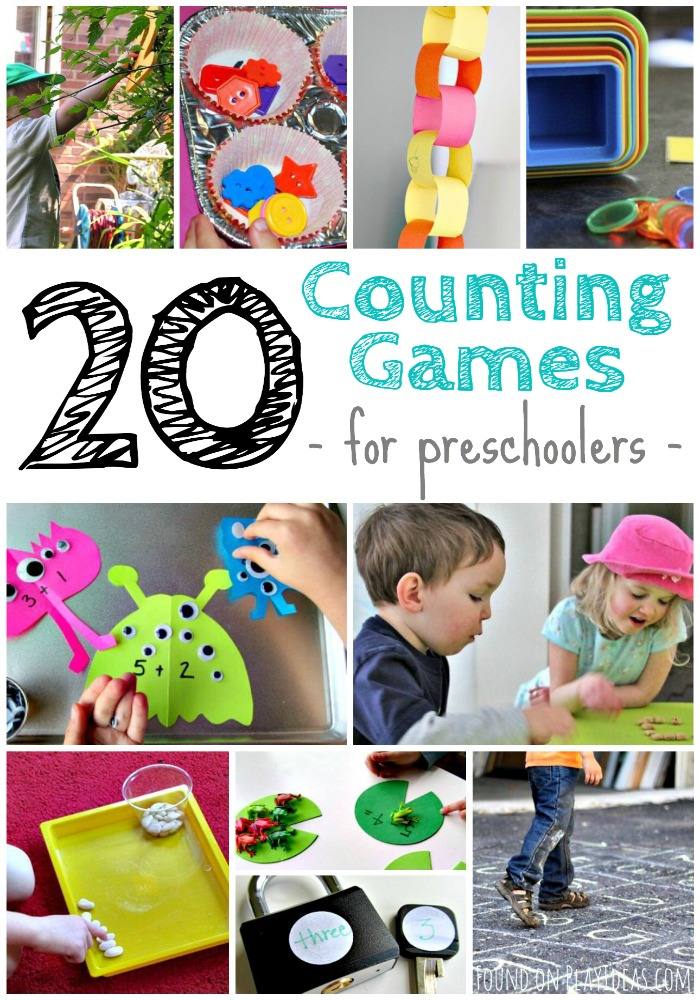 Counting Games for Preschoolers Pinnable