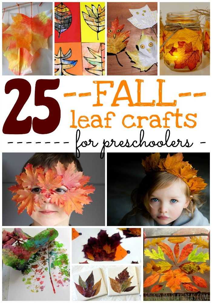 Fall Leaf Crafts for Prescholers Pinnable
