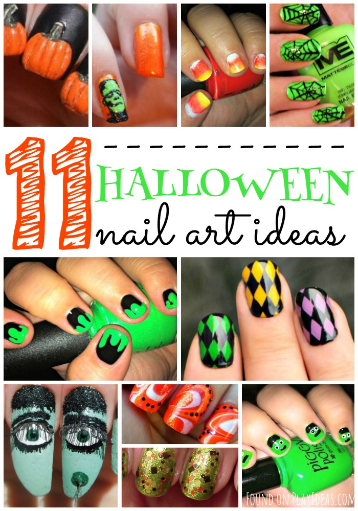 Halloween Nail Art Pinnable