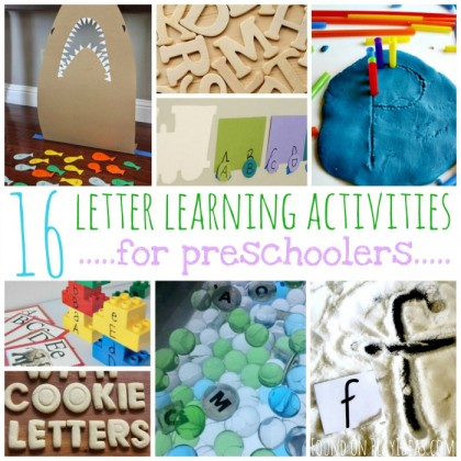 16 Letter Learning Activities For Preschoolers