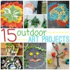 15 Outdoor Art Projects For Kids