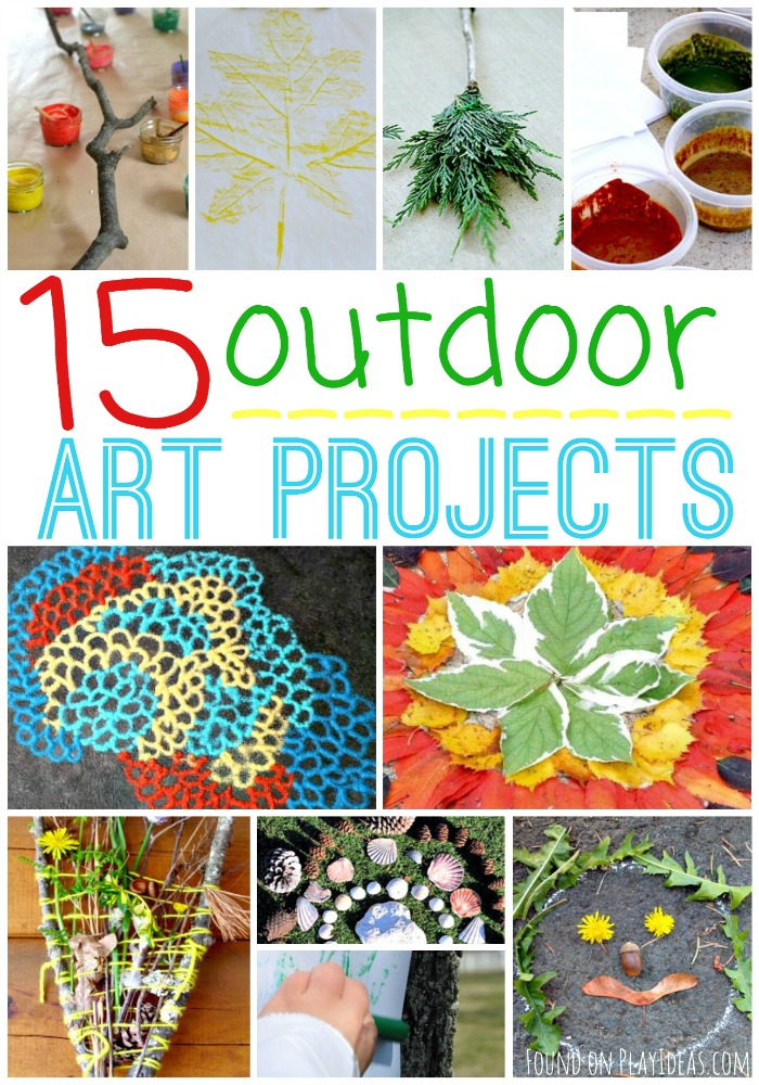 Outdoor Art Projects Pinnable