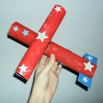 Paper Tube Airplane