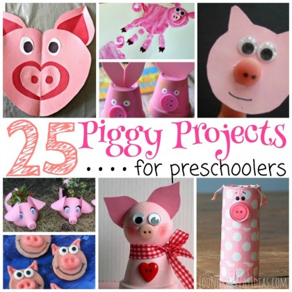 25 Precious Piggy Projects for Preschoolers