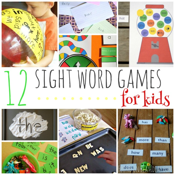 Sight Word Games Blog Image
