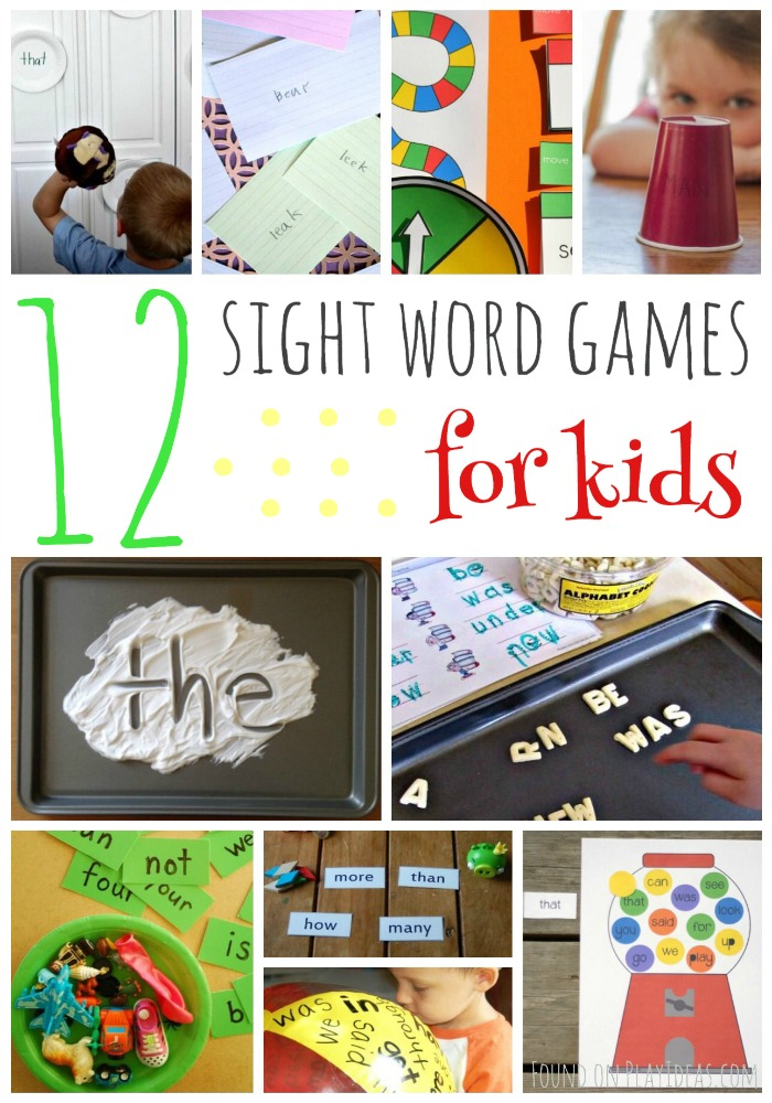 Sight Word Games Pinnable