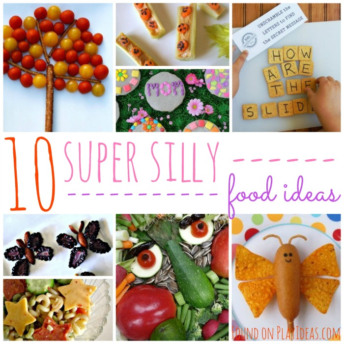 Enjoy creating this super silly food Ideas with your kids!