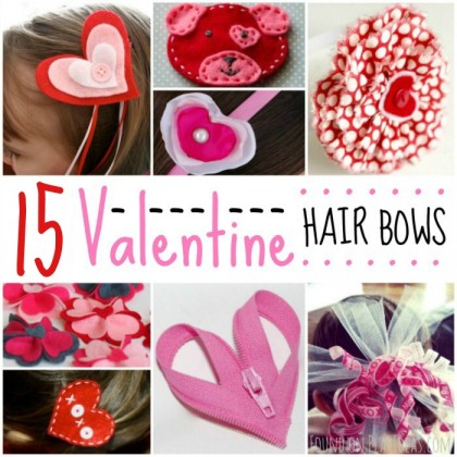 15 Adorable DIY Valentine's Day Hair Bows