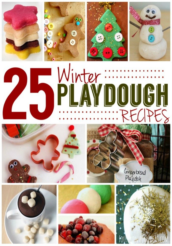 Winter Playdough Pinnable