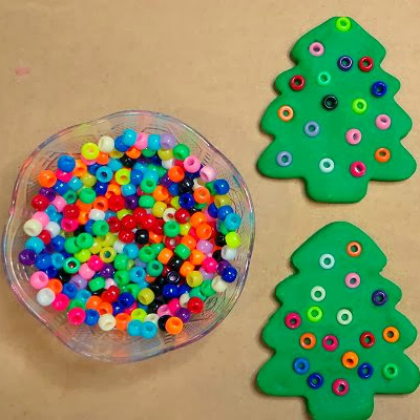 christmas tree decorating dough