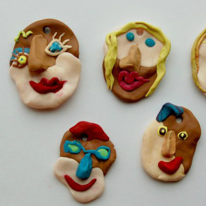 clay picasso faces