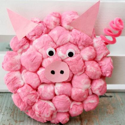 cotton ball pig