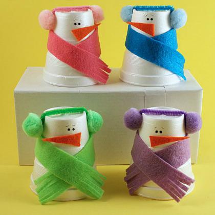 dressed up snowmen