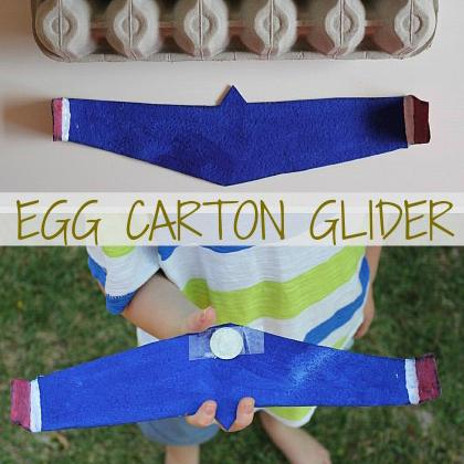 egg carton glider