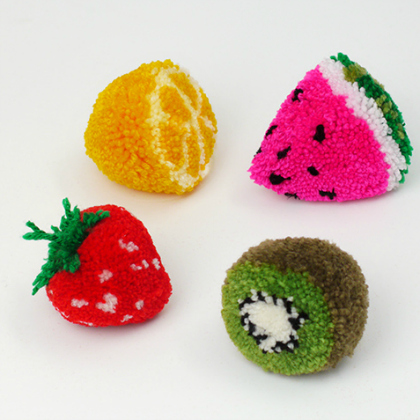 fruit pom poms