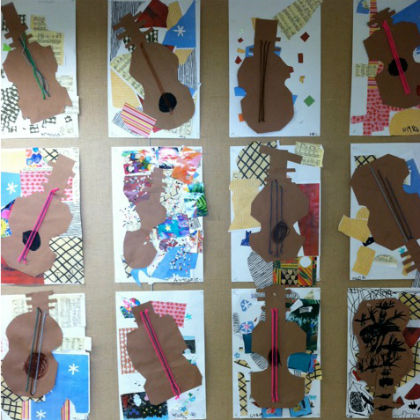 guitar collages