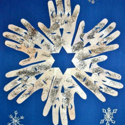 handprint snowflakes