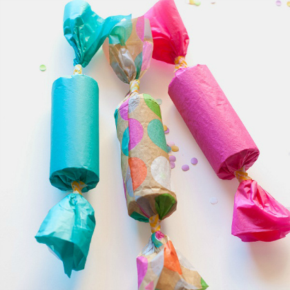homemade party poppers