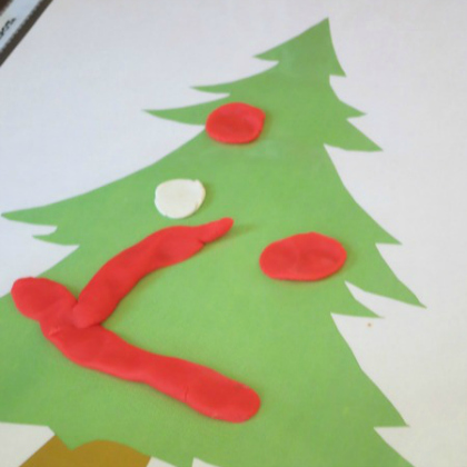 printable christmas tree dough mat