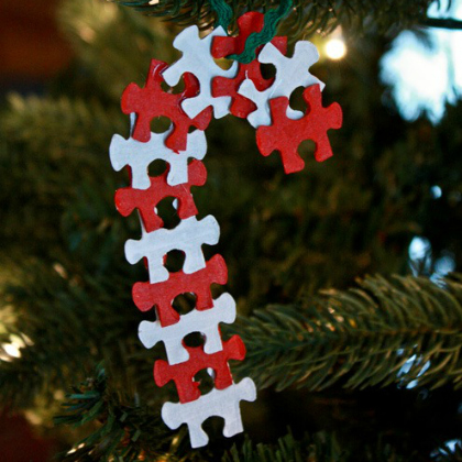 puzzle piece candy canes