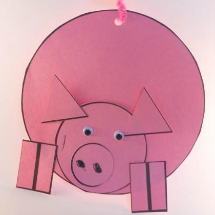 shapes pig